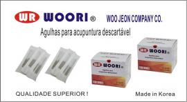 Agulha Woori 0,25x30 cx/ 1000 unidades coreana