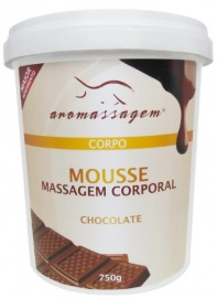 CREME AROMASSAGEM - MOUSSE DE MASSAGEM CORPORAL CHOCOLATE  750G