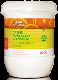 Creme para massagem D'agua Natural Citrus Aurantium e Arnica